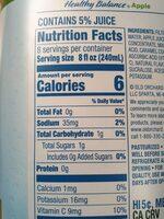 Reduced sugar juice cocktail - Nutrition facts - en