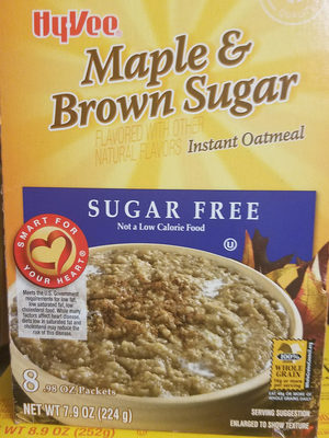 Maple & brown sugar instant oatmeal, maple & brown sugar - Product