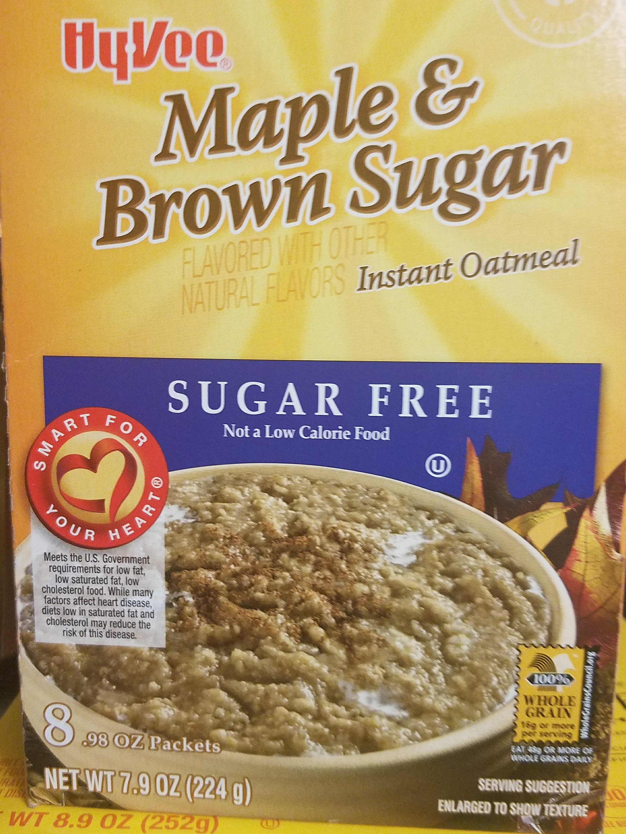 Maple & brown sugar instant oatmeal, maple & brown sugar - Product - en