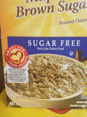 Maple & brown sugar instant oatmeal, maple & brown sugar - Ingredients - en