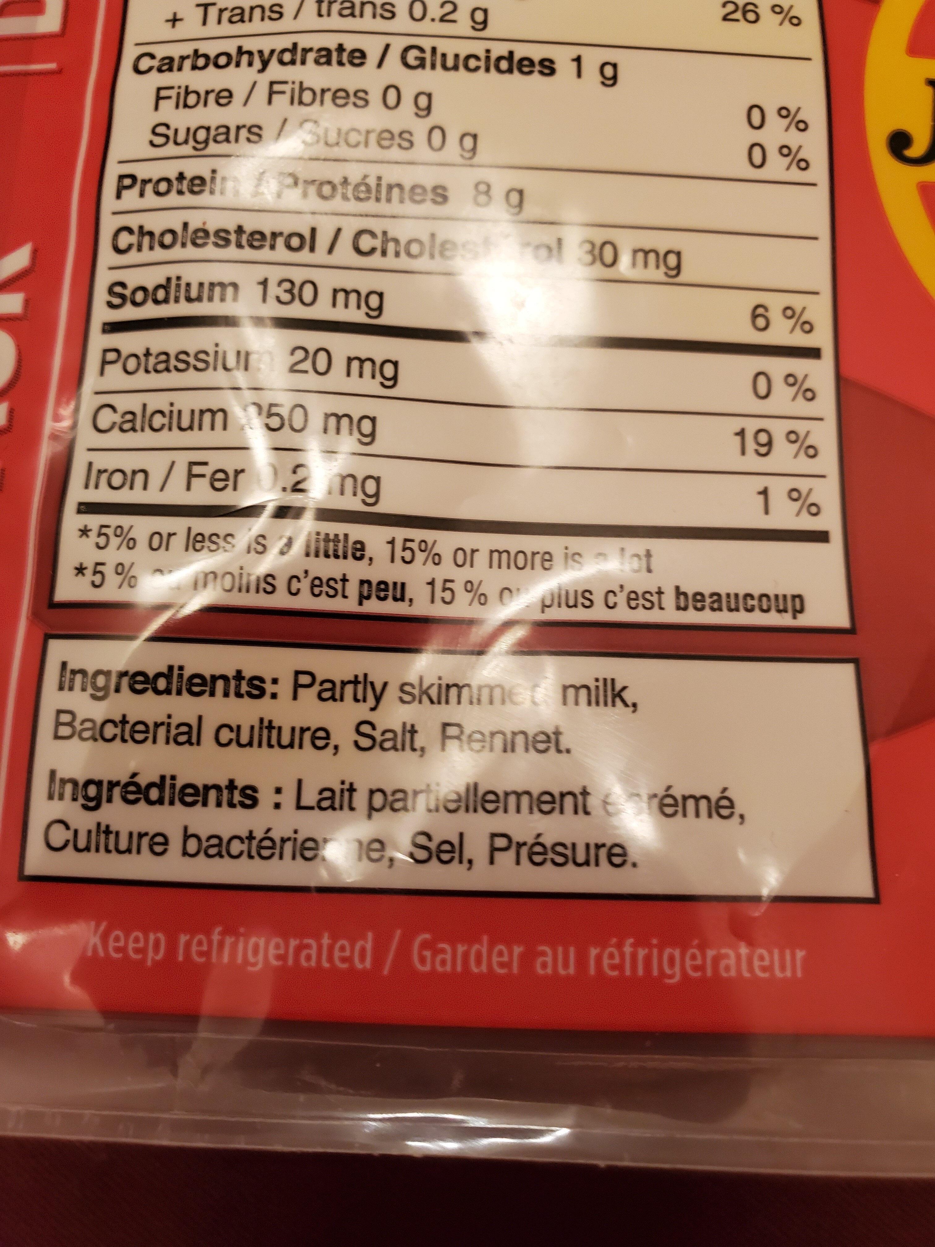 Jarlsberg - Ingrediënten - fr