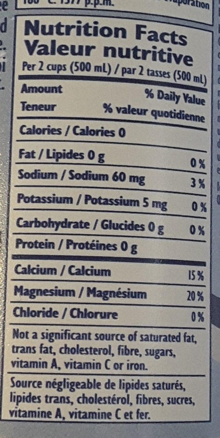 Carbonated natural mineral water - Ingrédients - fr