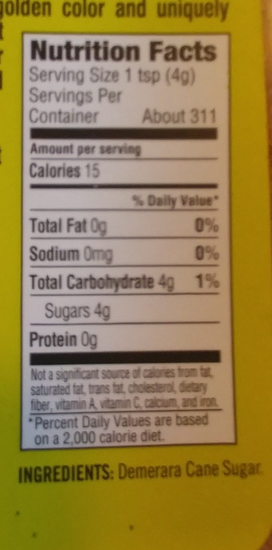 Demerara cane sugar - Ingredients - en