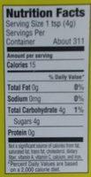 Demerara cane sugar - Nutrition facts - en
