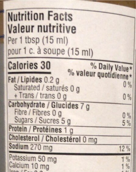 Korean BBQ Style Marinade and Stir-Fry Sauce - Nutrition facts - fr