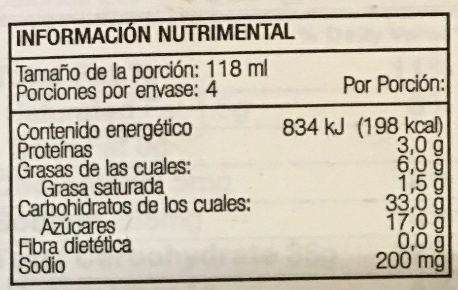 Sandwich Oreo Klondike - Nutrition facts