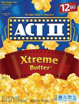 Xtreme butter microwave popcorn - Produit - en