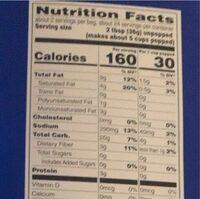 Xtreme butter microwave popcorn - Informations nutritionnelles - en