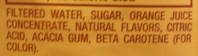 Orangeade - Ingredients