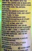 Peach Tea - Ingredients