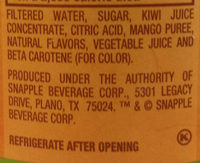 Mango Madness - Ingredients