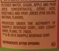 Snapple Apple - Ingredients