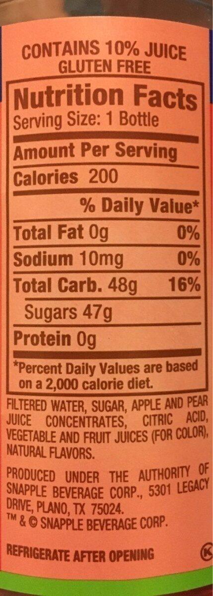 Apple flavored juice drink - Nutrition facts - en