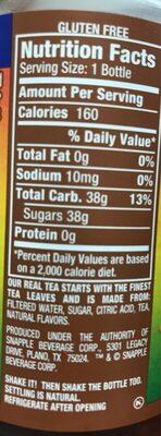 All natural mango tea - Nutrition facts - en