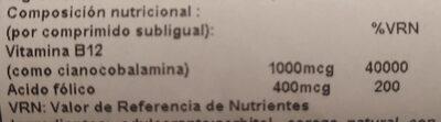 Vitamina B-12 1000MCG - Voedigswaarden