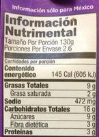 Doña Chonita Mole - Voedingswaarden - es