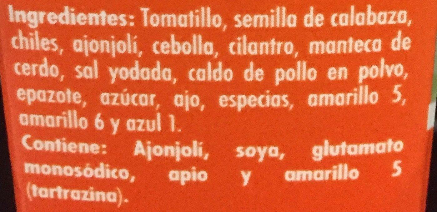 Doña Chonita - Ingrédients