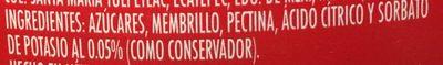 ATE DE MEMBRILLO LA COSTEÑA - Ingrediënten