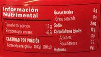 Quince paste - Información nutricional - es