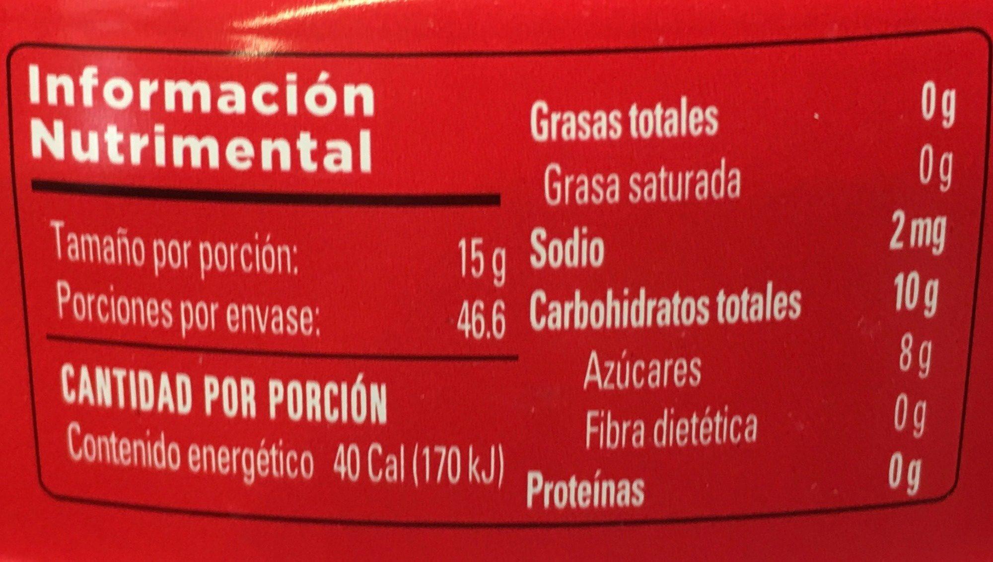 ATE DE MEMBRILLO LA COSTEÑA - Voedingswaarden