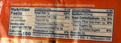 Peanut butter sandwich crackers - Voedingswaarden - en