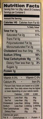 Crackers real Cheddar Cheese - Voedingswaarden