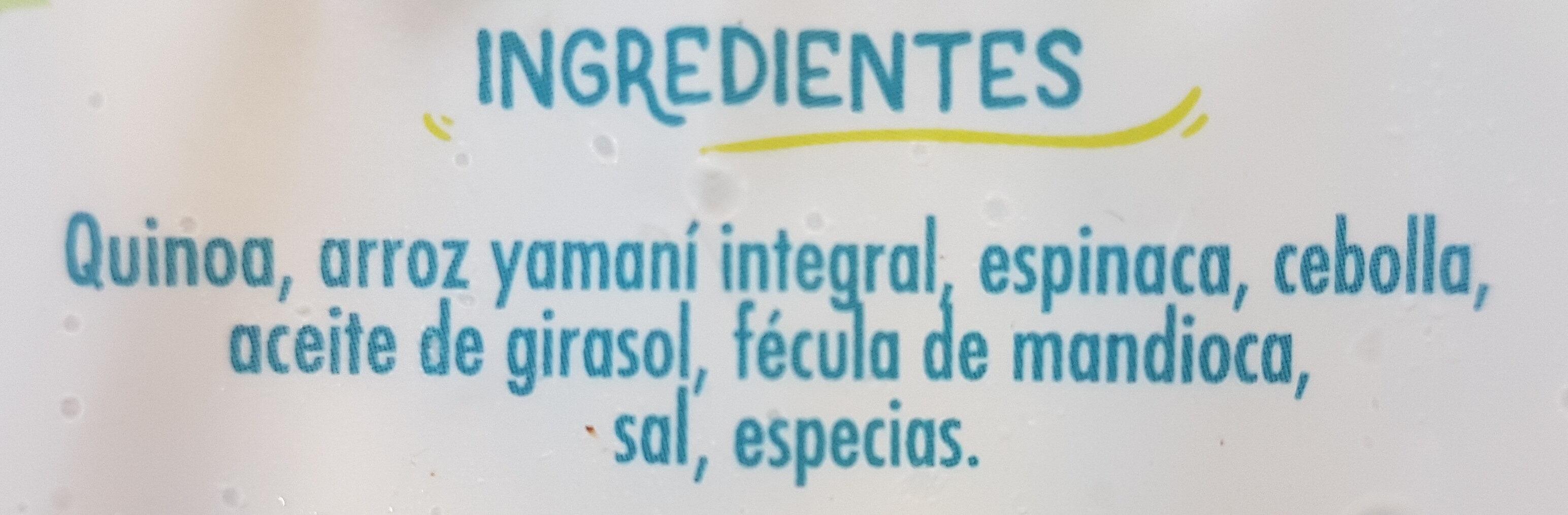 Medallones de quinoa y espinaca - Ingredients - es