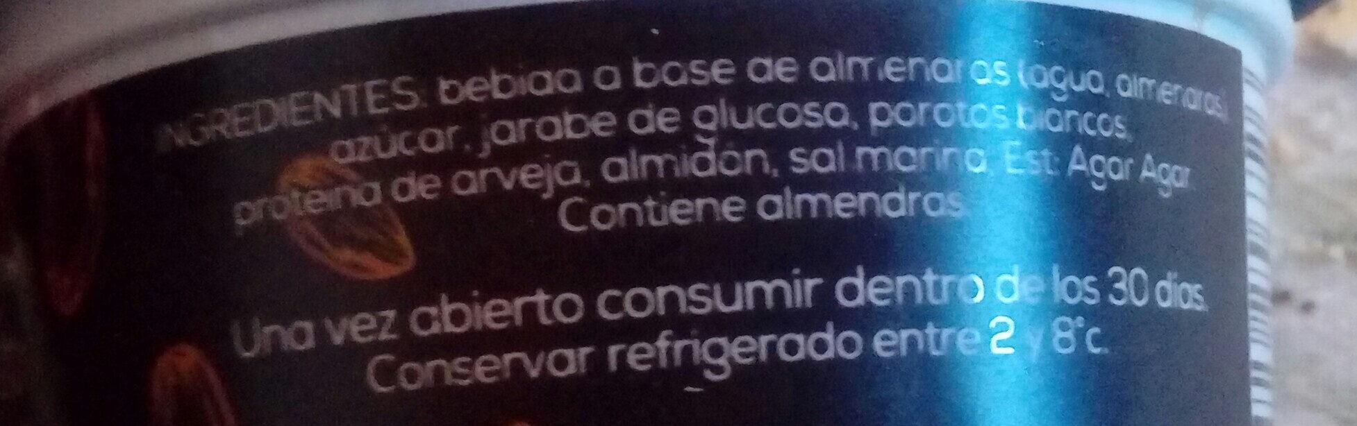 Dulce de Almendras - Ingredients - es