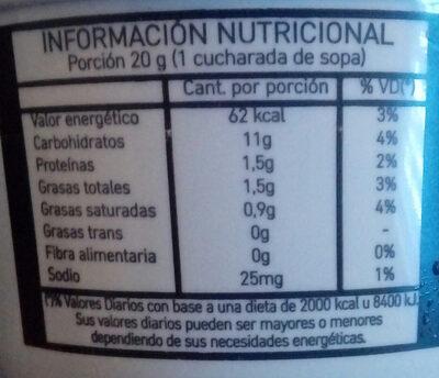 Dulce de Almendras - Nutrition facts - es