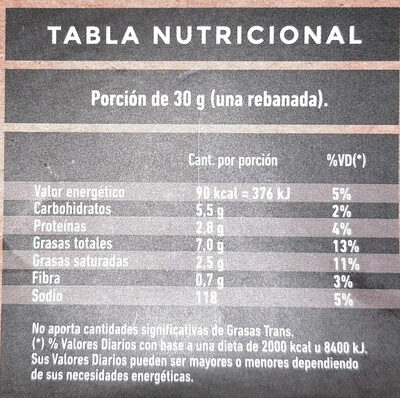 provolone de almendras y castañas - Informations nutritionnelles - es