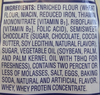 Chocolate Chip - Ingredients