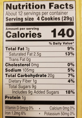 Famous Amos Bite Size Cookies Chocolate Chip - Nutrition facts