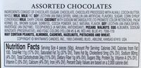 Assorted Chocolates - Ingredients