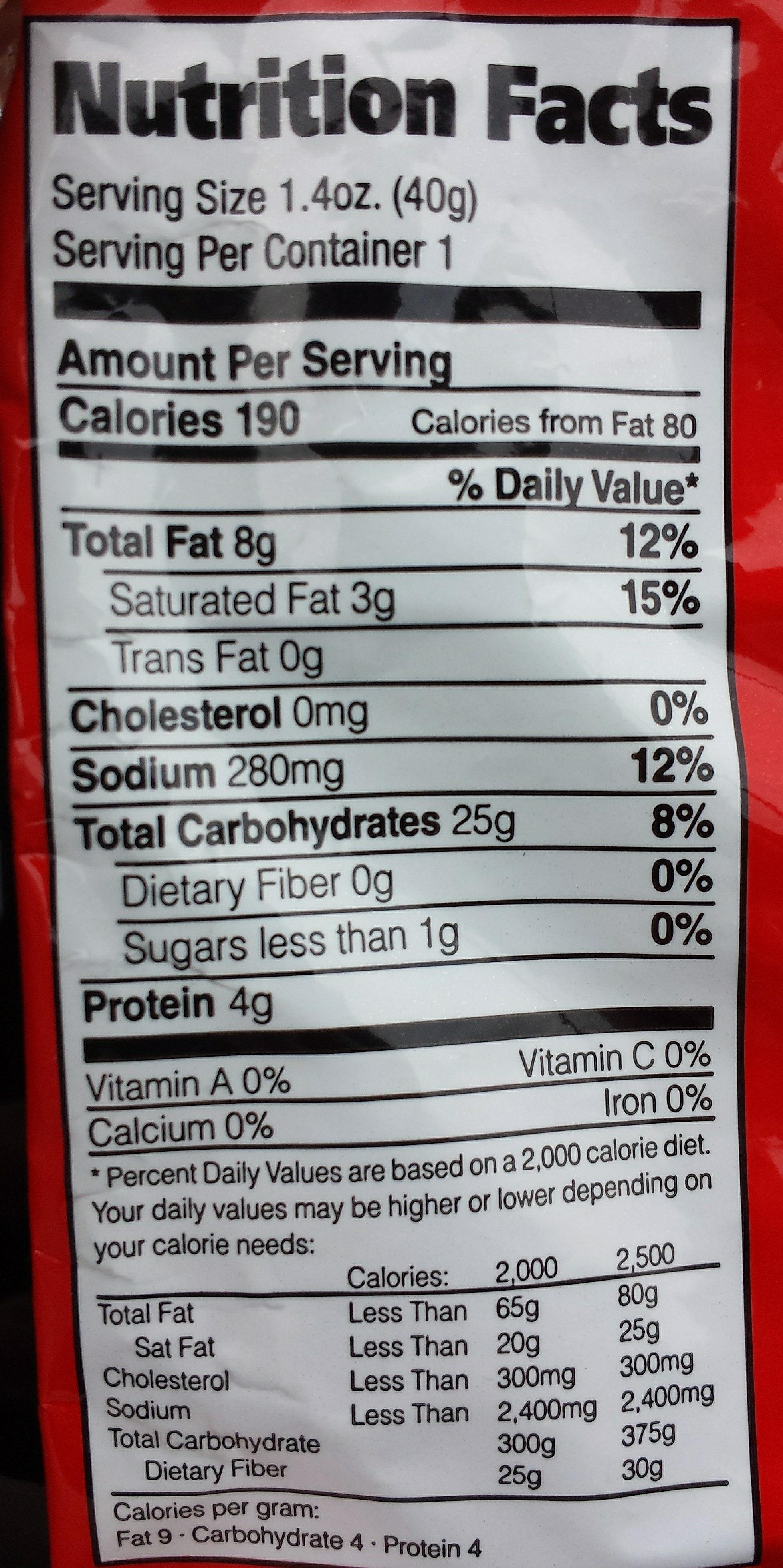 Super Snacks® Falafel Bits - Nutrition facts - en