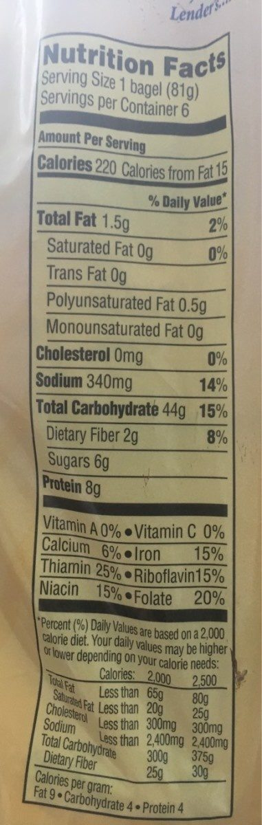 Cinnamon Raisin Swirl - Nutrition facts