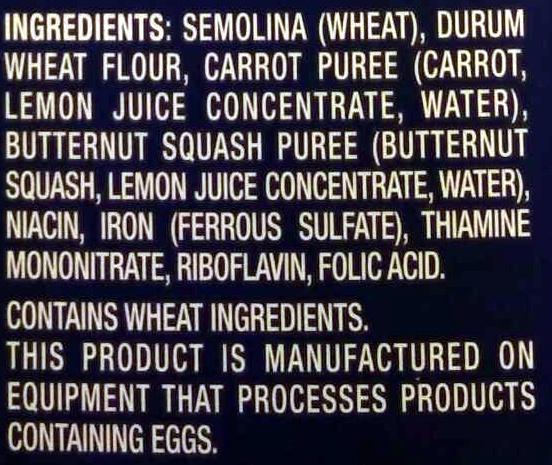 Veggie Elbows - Ingrédients