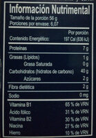 Casarecce - Nutrition facts - en