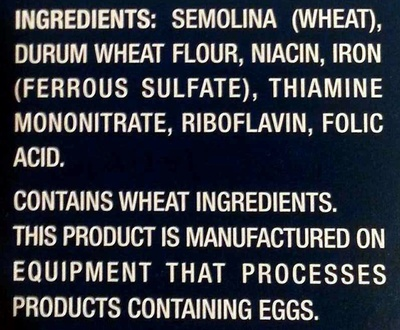 Penne - Ingredients - en