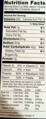 Penne - Nutrition facts - en