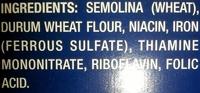 Farfalle - Ingredients