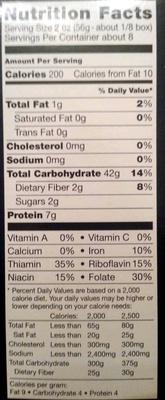 Farfalle - Nutrition facts