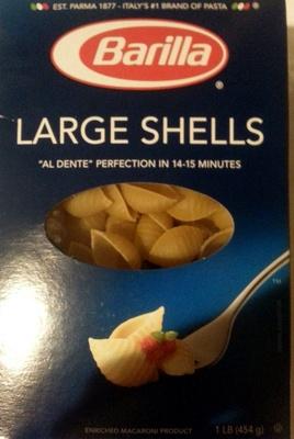 Barilla, enriched macaroni product large shells - Produit - en