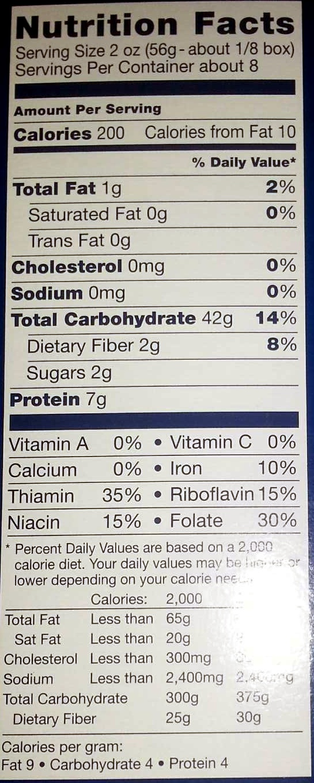 Barilla, enriched macaroni product large shells - Informations nutritionnelles - en