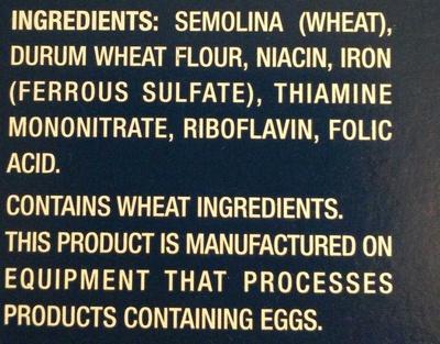 RIGATONI - Ingredients