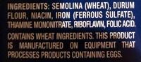 Enriched macaroni product, gemelli - Ingredients - en