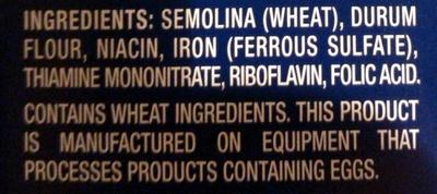 Gemelli - Ingredients