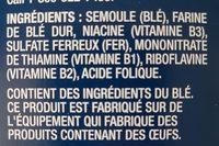 Rigatoni - Ingredients - fr