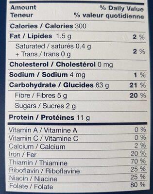 Rigatoni - Nutrition facts - fr
