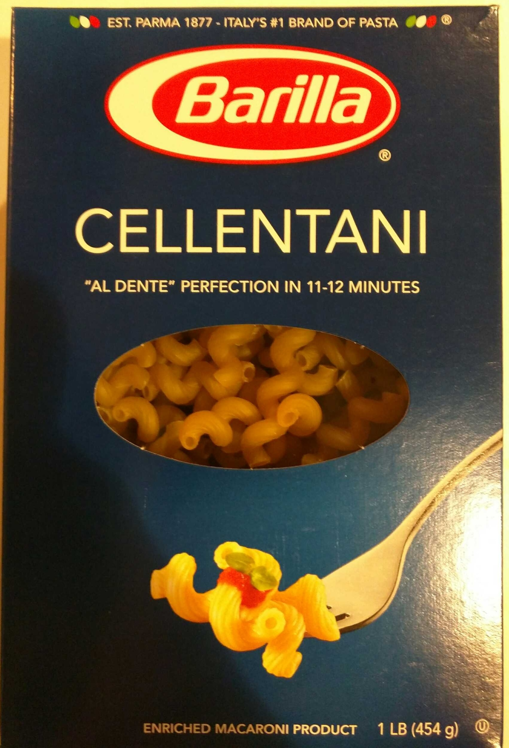 Enriched macaroni product, cellentani - Produit - en