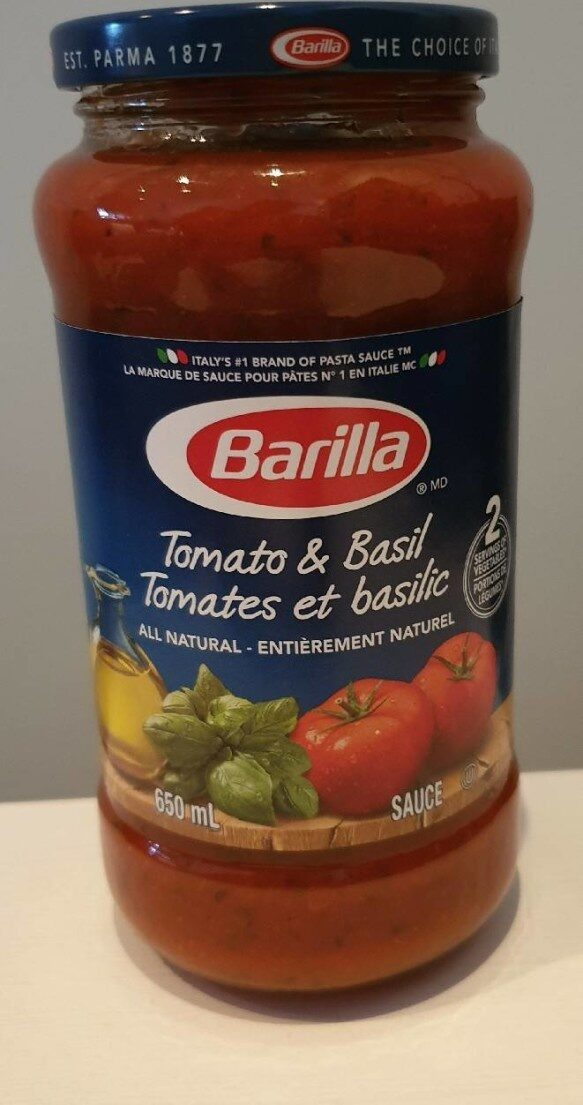 Sauce tomates et basilic - Produit - fr